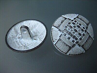 5x interessante Metall-Knöpfe - WeißBraun - 23mm - Larp, - Interessante Kostüm