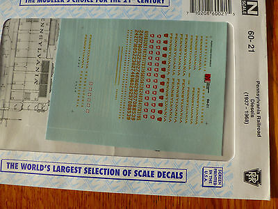 Microscale Decal N  #60-21 Pennsylvania Railroad Diesels (1937-1968) Diesel - Ho