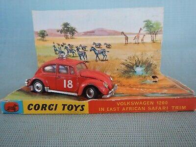 CORGI Toys Volkswagen 1200 East African Safari No. 256 & Original Box segunda mano  Embacar hacia Mexico