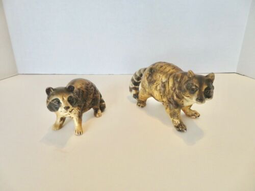 Set of 2 Vintage UCTCI Raccoon Figures Made in Japan