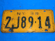 New York License Plates 1948