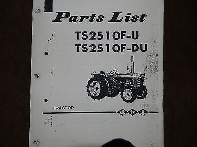 Iseki TS2510 tractor parts manual