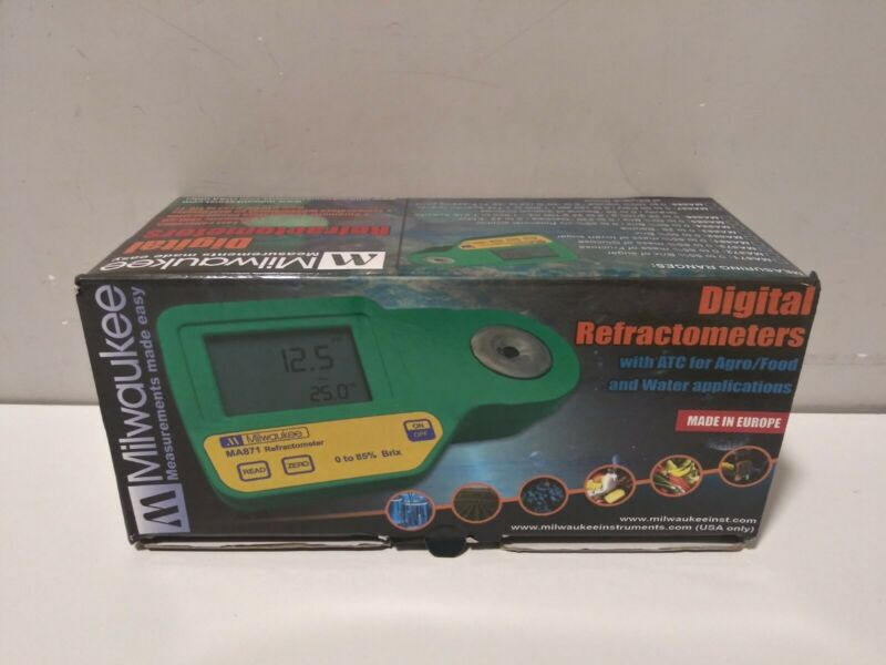 Digital Refractometer for Seawater - MA887 - Milwaukee New Open Box