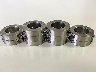 (10pcs) 16mm Stainless Steel Double Split Shaft Collar - 2MSSC-16
