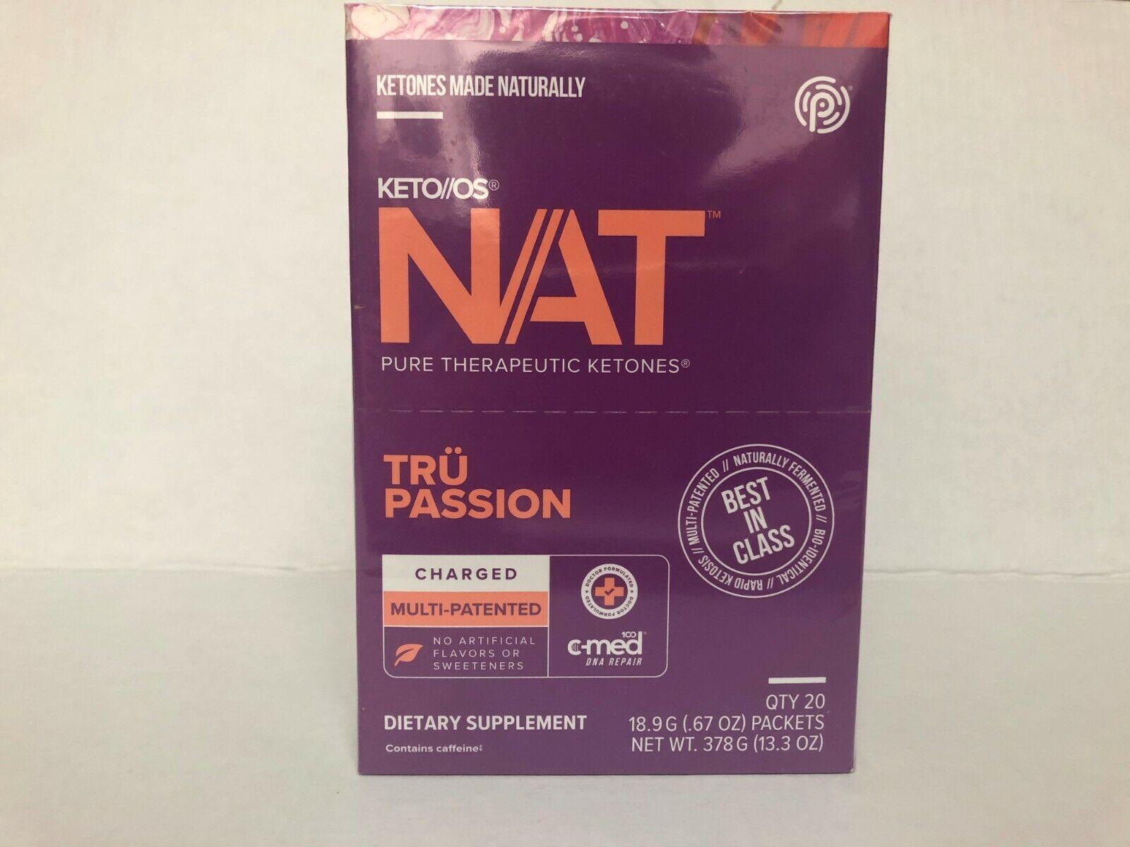 Pruvit Keto OS NAT Tru Passion 5, 10 & 20 Packs Free Shipping! 1