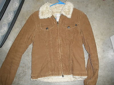 Abercrombie & Fitch corduroy coat junior small brown