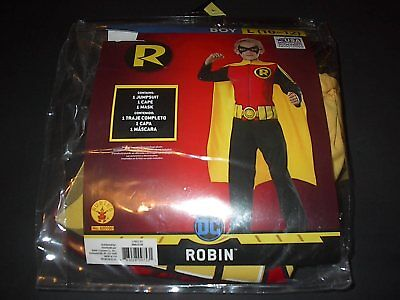 DC COMICS TEEN TITANS ROBIN CHILD HALLOWEEN COSTUME SIZE LARGE 10-12  BRAND NEW - Teen Titan Robin Costume
