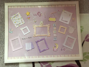 Baby girl collage picture frame