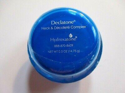 Hydroxatone Declatone Neck and Chest Décolleté Cream Sealed Jar .5oz