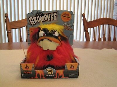 """2018 SKYROCKET GRUMBLIES """"SCORCH"""" RED PLUSH INTERACTIVE TOY--NEW"""