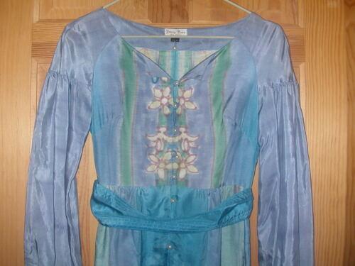 Vintage+Fanny+Buss+Women%27s+100%25+Silk+Hand+Printed+Dress