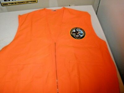 Pennsylvania Game Commission 1895 Patch on Orange Zip up Vest Size XL Pibh