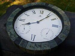 Infinity Instruments 14235 - 14.6  Indoor/Outdoor Mosaic Wall Clock, temp, hydr