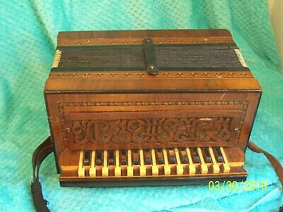1925 Hohner Piano shaped keys / button box Germany accordion used accordian RARE