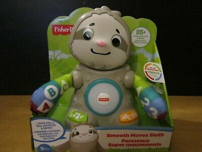 FISHER PRICE SMOOTH MOVES SLOTH LINKIMALS 85 SONGS SOUNDS TUNES PHRASES HTF