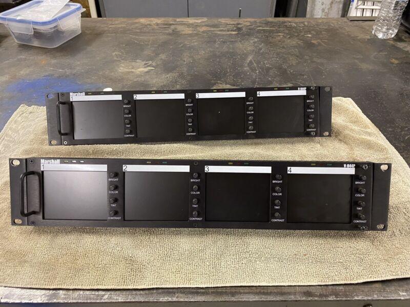 Marshall Elec V-R44P Quad 4-inch Rack Mount Monitors w/ Power Adapter