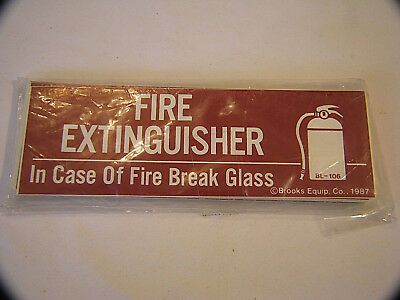 Lot Of 25 Fire Extinguisher Stickers - In Case Of Fire Break Glass