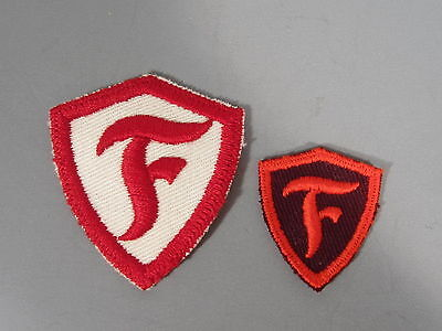 2 Firestone Tires Patches / New Old Stock of Closed Embroidery Co / FREE Ship