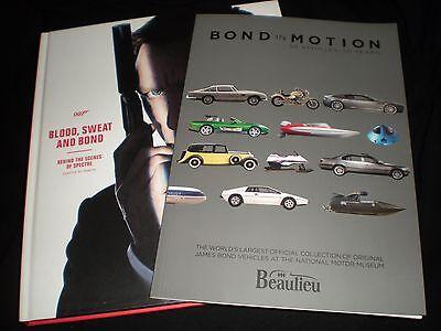 JAMES BOND 007 - BOND IN MOTION & BLOOD, SWEAT, AND BOND BOOKS - SPECTRE