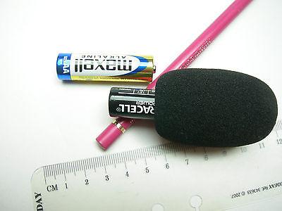Mikrofonzubehör Windschutz f. Mikrofon Schaumstoff Windscreen 56x30 30x11 mm