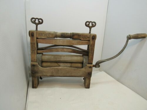 Antique Anchor Brand No760 BOGGS & BUHL Wringer Washer with Crank 1895
