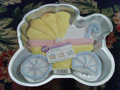Wilton Baby Buggy Nursery shower cake mold pan 2005 sweet design infant party