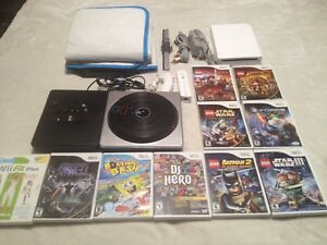 Nintendo Wii console 12 games and controllers