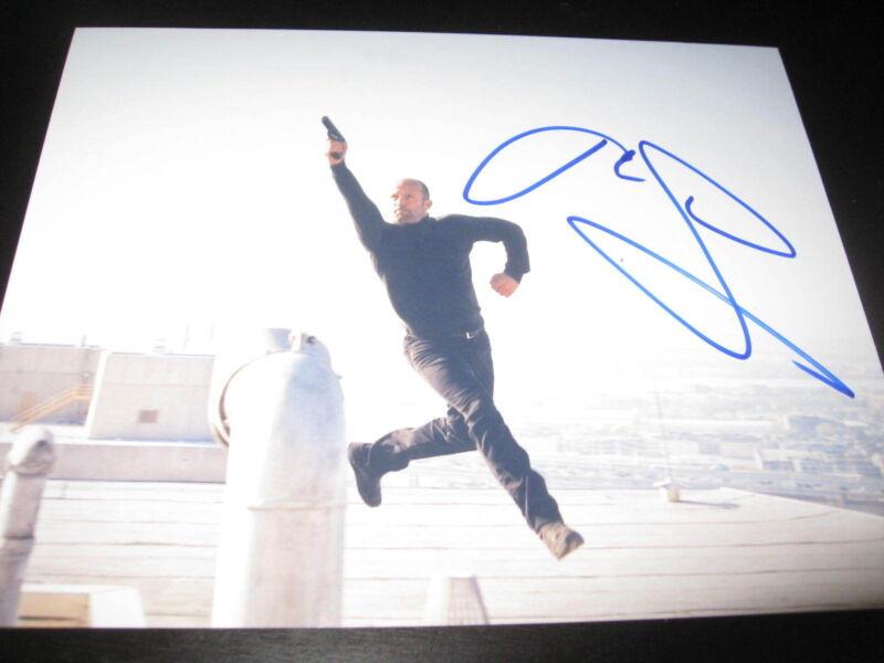 JASON STATHAM SIGNED AUTOGRAPH 8x10 PHOTO MECHANIC EXPENDABLES PROMO COA AUTO D