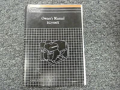 Honda Power Equip Model Eg3500x Generator Owner Operator Maintenance Manual