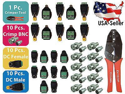 Crimping Crimper Tool Set X10 Crimp Bnc X10 Dc Female X10 Dc Male Screw Terminal