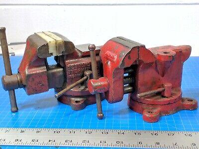Vintage Wilton Simplex Utility Bench Vises Swivel Base Anvil Hardy Hole Soft