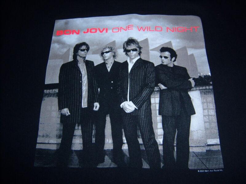 licensed BON JOVI t shirt - 2001 ONE WILD NIGHT WORLD TOUR - looks UNUSED - (M)