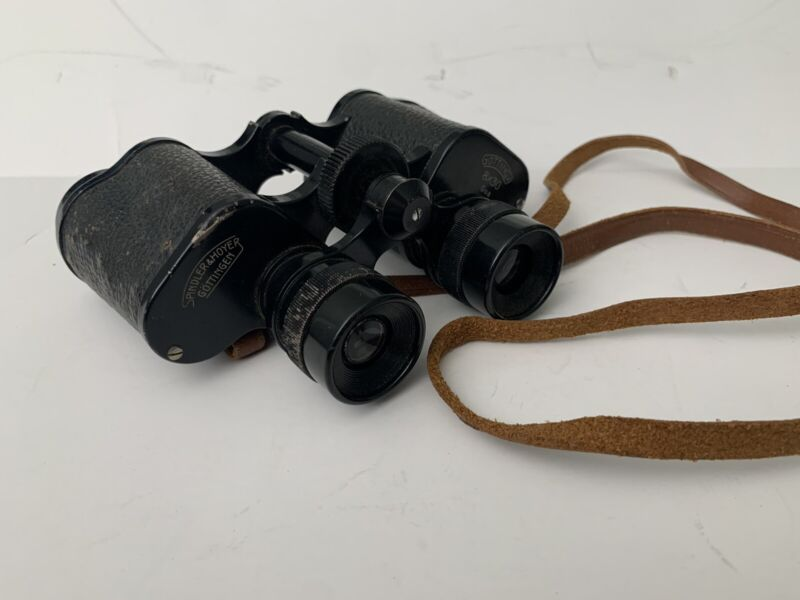 Vintage Spindler Hoyer Binoculars 8x30 Gottingen Gottinga German WWII Military