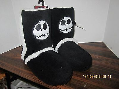 NIGHTMARE BEFORE CHRISTMAS JACK PLUSH SHERPA BOOT SLIPPERS - Nightmare Before Christmas Boots