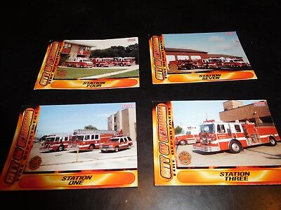 KENOSHA(WI)FIRE DEPT. TRADING CARDS-SET OF 4