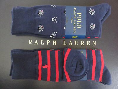 Polo RALPH LAUREN Skull Crossbones Pirate Jolly Roger Socks Two Pair - Pirate Socks