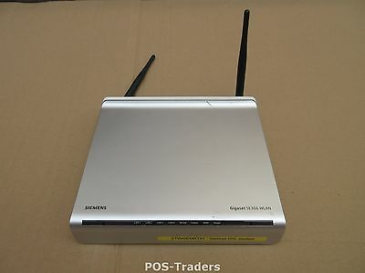 SIEMENSGIGASET SE366 5GHz WiFi router 4x 100Mbps SW 2X ANTENNA 1X BROKEN OFF