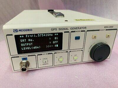 Meguro Keisoku Msg-2050 Gps Signal Generator Gp-ib Msg2050 Anritsu
