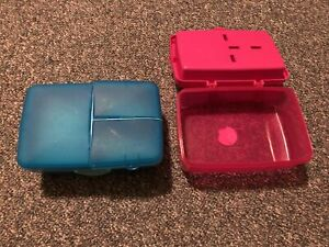 2 Portioned lunch containers