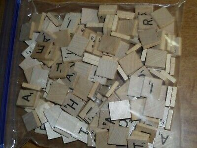 Lot of 160 SCRABBLE TILES Complete set + 60 of Original USA Wood Wooden Piece