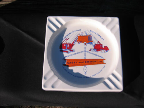 vintage construction advertising ashtray metal  VERY SHARP!!!!
