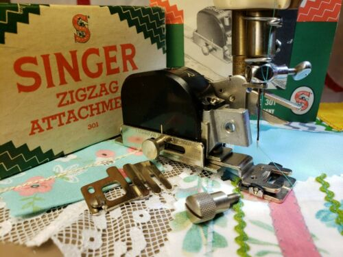 Singer ZigZag Attachment 160745 ~ Featherweight 301a Stitch Tested ~ COMPLETE!