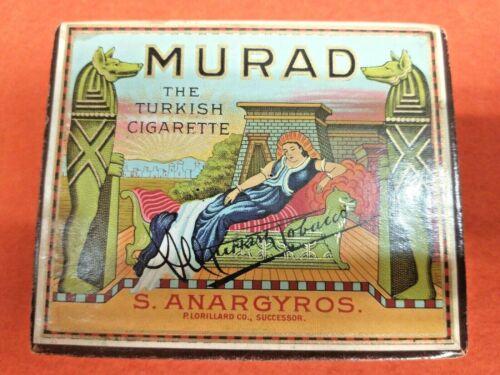 Vintage Turkish Cigarette Box Murad S Anargyros Cardboard Tobacciana Advertising