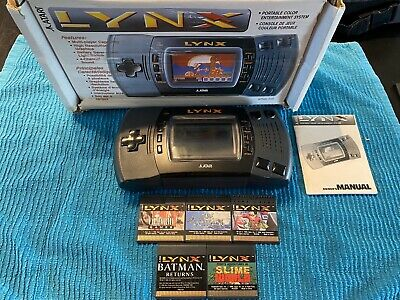 Boxed Atari Lynx II With 5 Great Games! Free Shipping!