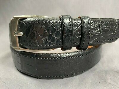 """Leather Work Belt 2/"""" 50mm Metal Buckle 2 Pin Top Grain Heavy Duty 32-44/"""" Waist"""