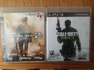 MW2 and MW3 Ps3 games