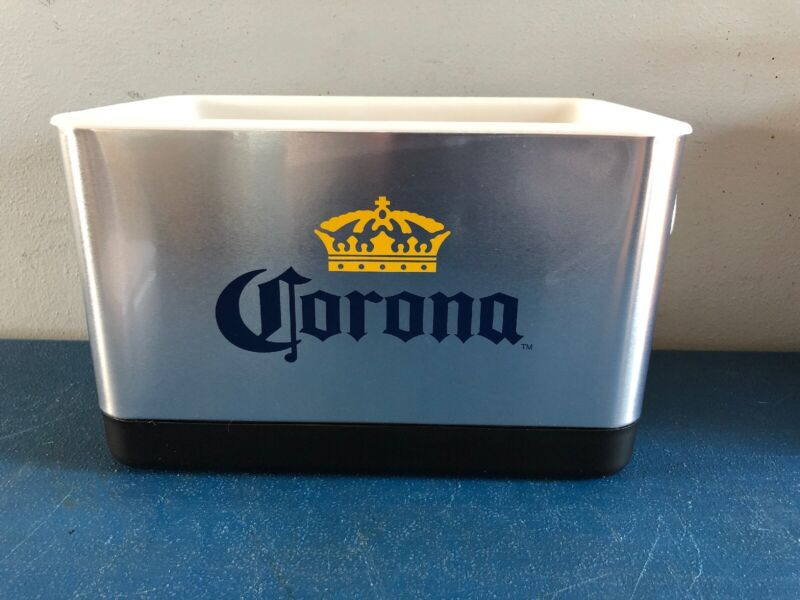 (L@@K) Corona Beer Bottle Can Metal Cooler Game Room Man Cave NEW MIB