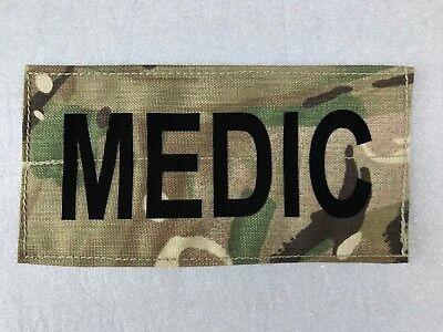 UK BRITISH ARMY SURPLUS MTP MEDIC IDENTITY PATCH MEDICAL IFF HOOK & LOOP FIXING