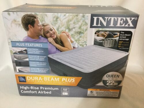 Intex Dura Beam Plus Supreme Air Flow Durable Bed Mattress w
