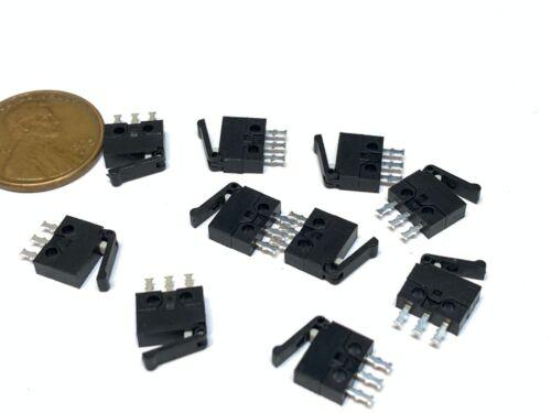 10 Pieces- NC NO Microswitch  mini small Micro Limit Switch Lever Camera A15
